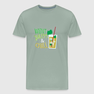 1 Mint Julep Day Funny Drinking Chilling Party Gif - Men's Premium T-Shirt