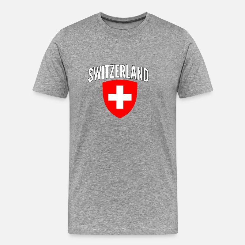 Mens Ringer World Cup 2018 T-Shirt KEEP CALM /& Support SWITZERLAND Football