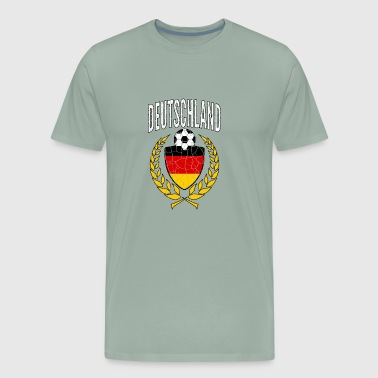 Germany Socccer Jersey Vintage World Soccer Cup - Men's Premium T-Shirt