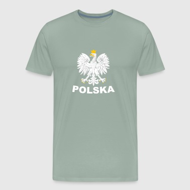 Polska Eagle / Polish Pride Design Coat of Arms - Men's Premium T-Shirt