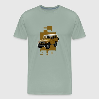 Yellow FJ40 Stripe - Men's Premium T-Shirt