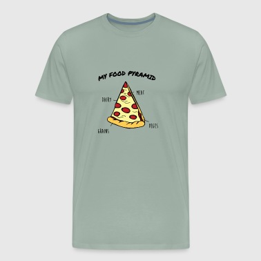 Pizza Pizza Slice Food Pyramid Funny pizza - Men's Premium T-Shirt