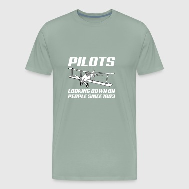 Funny Pilots Plane Air Flight T Shirt Gift - Men's Premium T-Shirt
