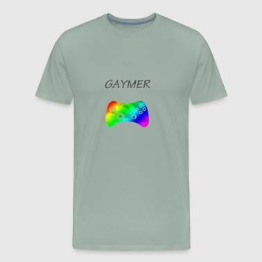 Gaymer for Gay Gamer T-Shirt LGBTQ Pride and Equal - Men's Premium T-Shirt