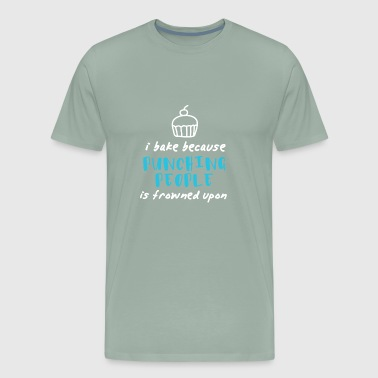 bake baking kitchen cooking baked goods gift - Men's Premium T-Shirt