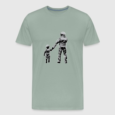Dad And Son Dirt Bike Rider - Men's Premium T-Shirt