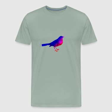 Bird Funny Animals blue-red watercolor T Shirt Kid - Men's Premium T-Shirt
