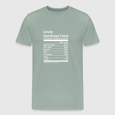 Uncle Nutritional Facts - Men's Premium T-Shirt
