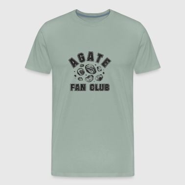 Agate Fan Club black - Men's Premium T-Shirt