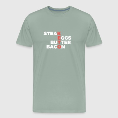 Steak, Eggs, Butter, Bacon | Keto Foods - Men's Premium T-Shirt