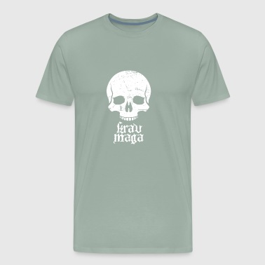 Distressed Krav Maga Skull - Men's Premium T-Shirt