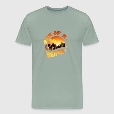Ocean Scene sun and beach - vacation - ocean - palm trees - Men's Premium T-Shirt