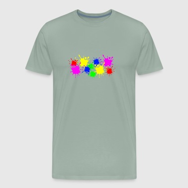 Splashes of color splashes of color color color du - Men's Premium T-Shirt