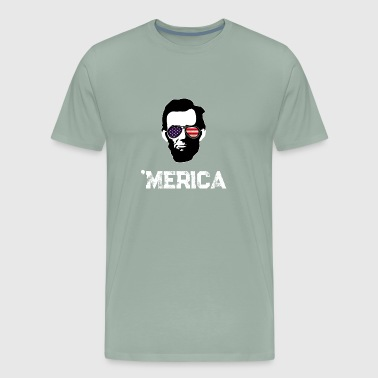 Abraham Lincoln 4th of July Independence Day Gift - Men's Premium T-Shirt