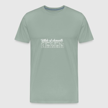Shop periodic table of the elements t shirts online spreadshirt chocolate periodic table elements men39s premium urtaz Gallery