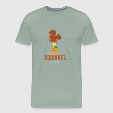 Nutty Cute Squirrel Walnut Ice Waffle Gift Idea - Men's Premium T-Shirt