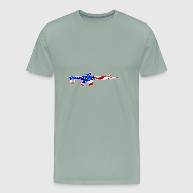 American flag with gun - Men's Premium T-Shirt