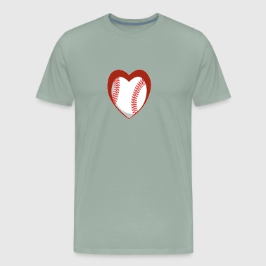 Heart Baseball - Men's Premium T-Shirt