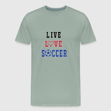 Soccer Live Love - Men's Premium T-Shirt