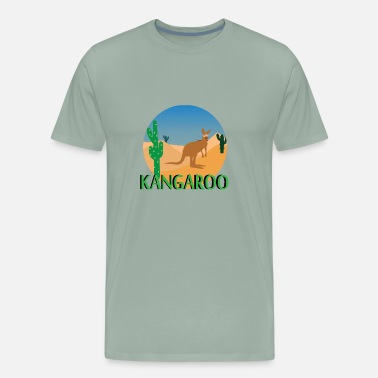 Australian Animals Kangaroo Animal Lover Australian Animals Boxing - Men's Premium T-Shirt