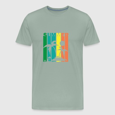 Summer Vibes Island Beach Surf - Men's Premium T-Shirt