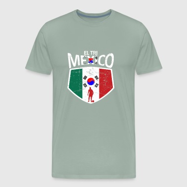 Mexico Soccer Jersey Shirt Mexico and Korea flag s - Men's Premium T-Shirt