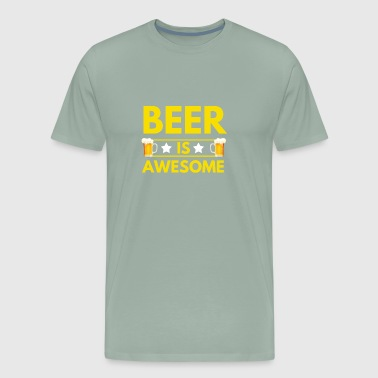 Beer is awesome - Men's Premium T-Shirt