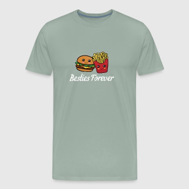 Best Friends Funny Cool Burger and Fries Gift - Men's Premium T-Shirt