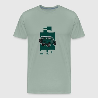 GREEN Toyota FJ40 Landcruiser - Men's Premium T-Shirt