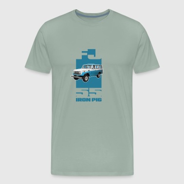 BLUE Toyota FJ55 Landcruiser IRON PIG wagon - Men's Premium T-Shirt