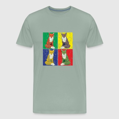 Pop Art Fox Used Look - Men's Premium T-Shirt