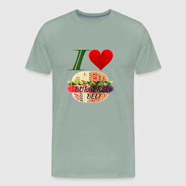 I LOVE BURGERS - Men's Premium T-Shirt