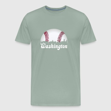 Washington DC Baseball National Mall Skyline Gift - Men's Premium T-Shirt