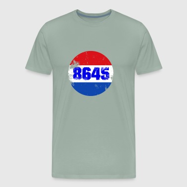 Large 8645 Impeach Him Patriotic Button T-Shirt - Men's Premium T-Shirt