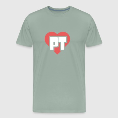 PT Heart | Physical Therapy - Men's Premium T-Shirt