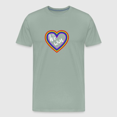 Equality We Win Gay Marriage Love Wins - Men's Premium T-Shirt