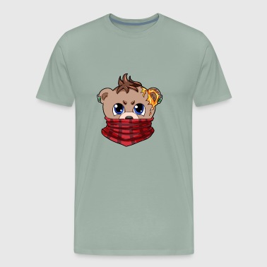 Adults Teddy Bear teddy bear bandana Comic son daughter - Men's Premium T-Shirt
