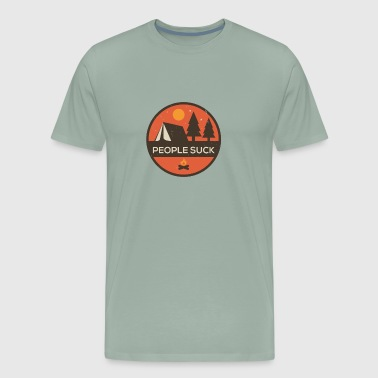 People Suck But So do Bugs Camping - Men's Premium T-Shirt