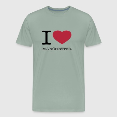 I LOVE MANCHESTER - Men's Premium T-Shirt
