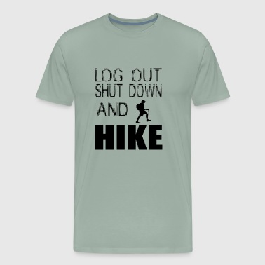 log out shut down - Men's Premium T-Shirt