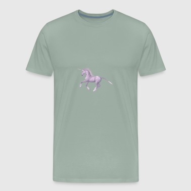 unicorn riding - Men's Premium T-Shirt