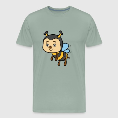 Bee insect wildlife vector image cartoon awesome - Men's Premium T-Shirt