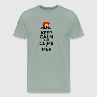 Keep Calm and Climb a 14er - Men's Premium T-Shirt