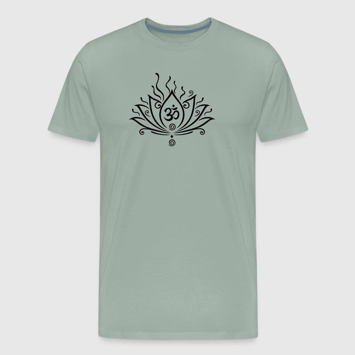 Lotus Flower Yoga With Om Symbol By Christine Krahl Spreadshirt
