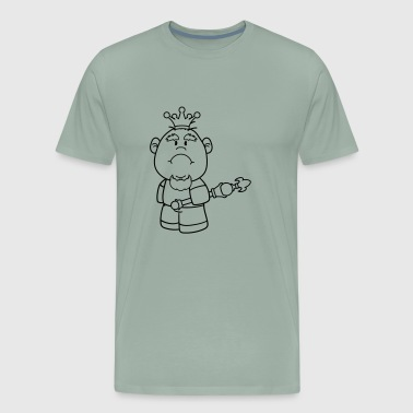 Big Boy Swag crown king prince big head little man boy face sad - Men's Premium T-Shirt
