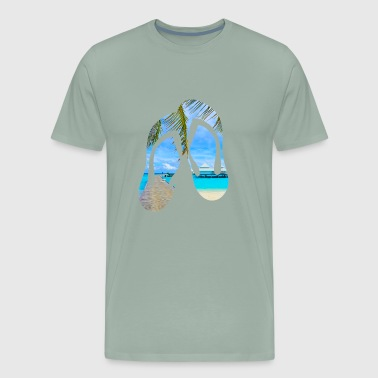 Flip Flop Beach - Men's Premium T-Shirt