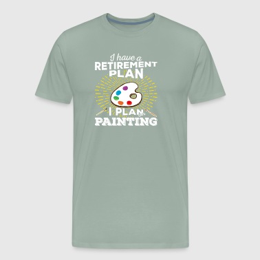 Retirement Plan Painting (light) - Men's Premium T-Shirt