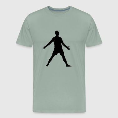 football player celebrating - Men's Premium T-Shirt
