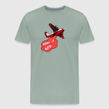 Seaplane for firefighting - paint it red - Men's Premium T-Shirt