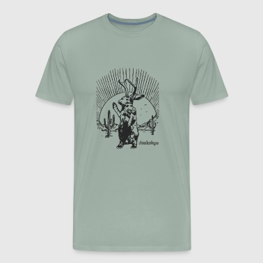 Jackalope T Shirt Mythical Animal Shirt Vintage - Men's Premium T-Shirt